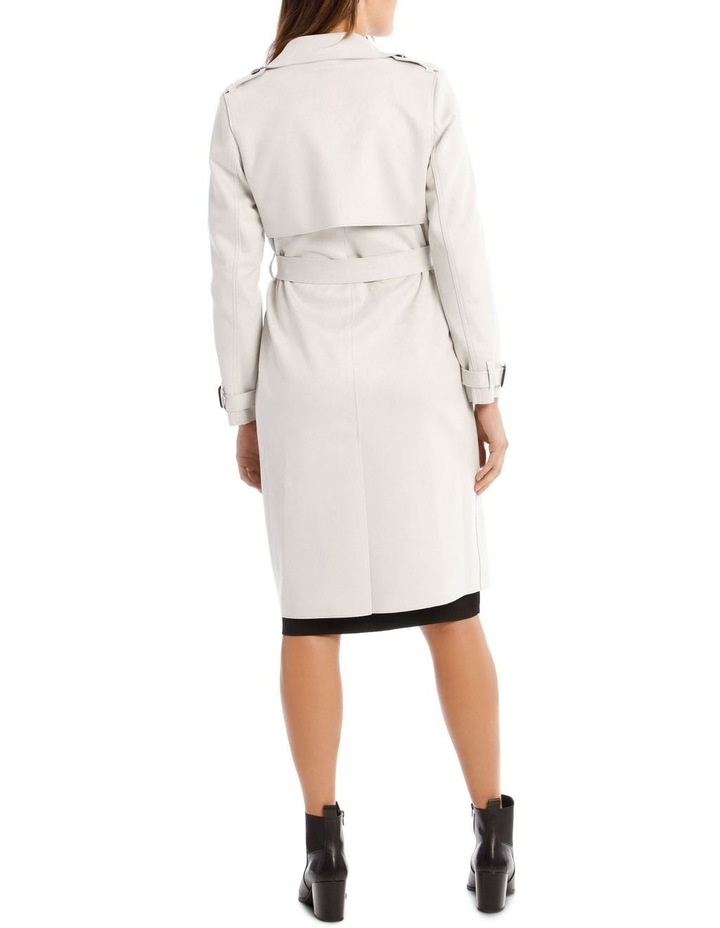 Suedette Trench Coat image 3