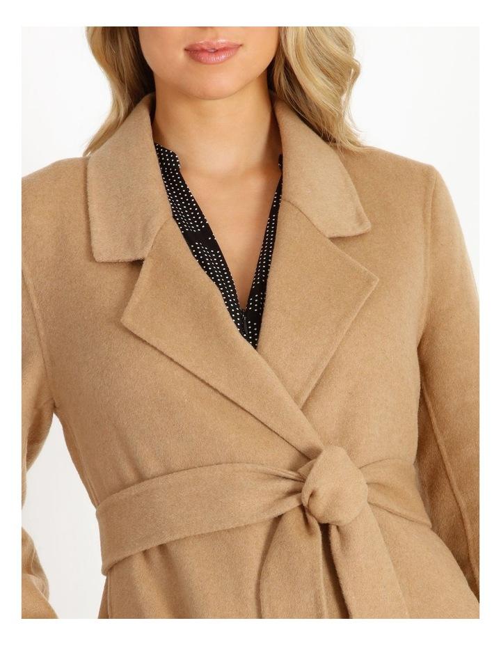 Wool Blend Wrap Coat image 6