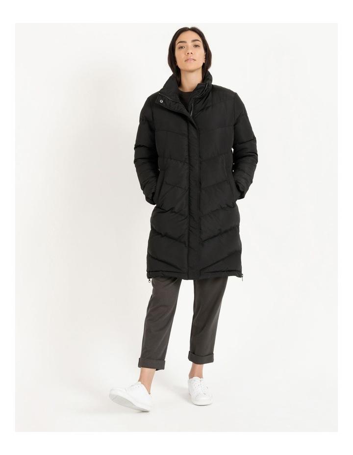 Longline Puffer Coat image 2