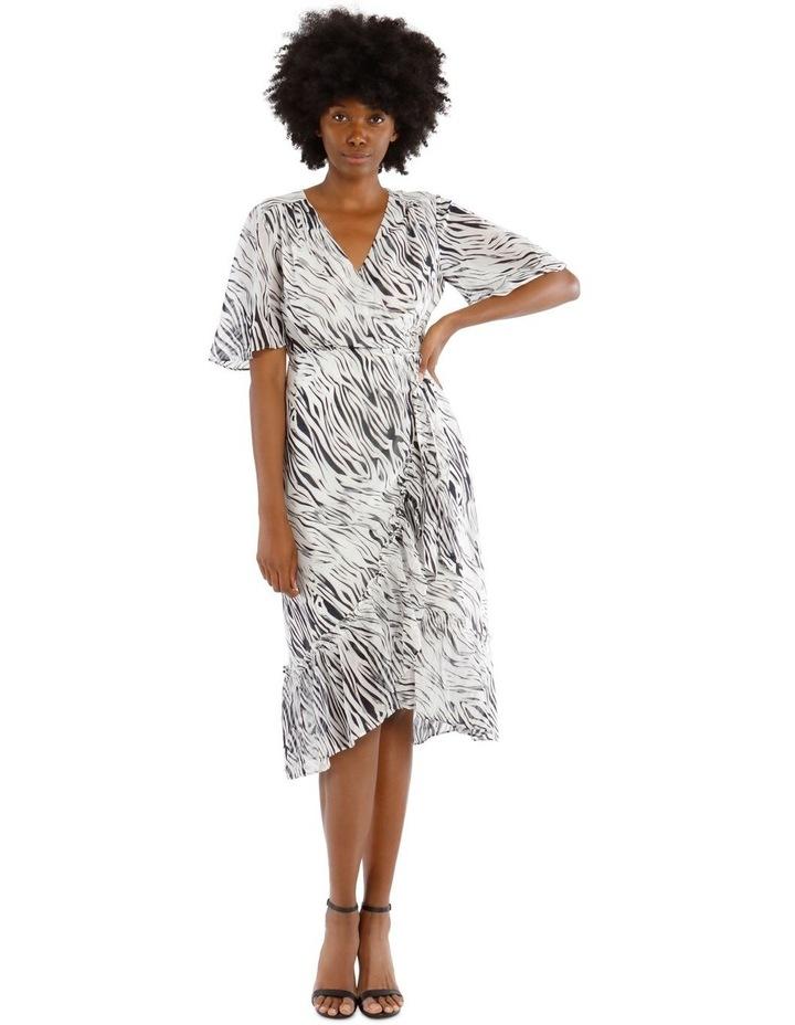 Frill Hem Midi Dress image 2