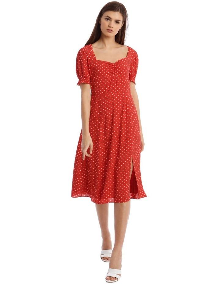Midi Sweetheart Side Split Dress image 1