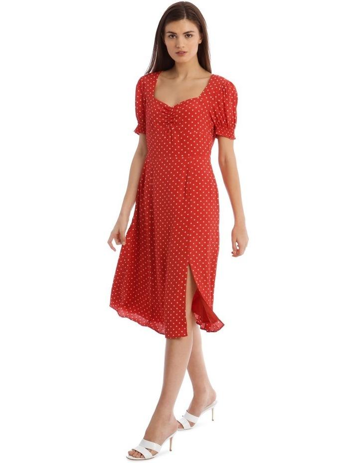 Midi Sweetheart Side Split Dress image 2