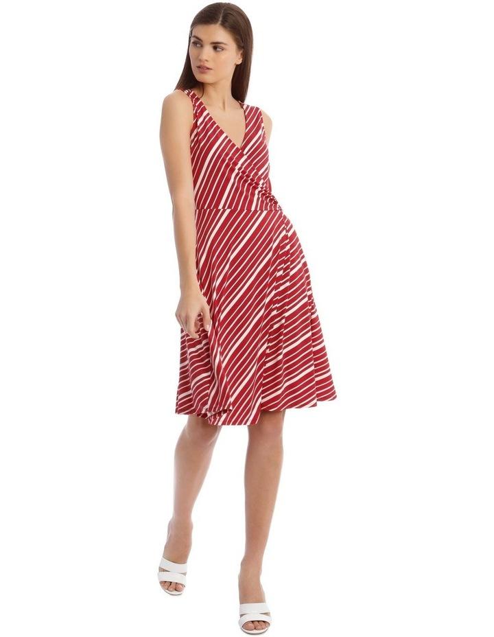 Stripe Wrap Midi Dress image 1