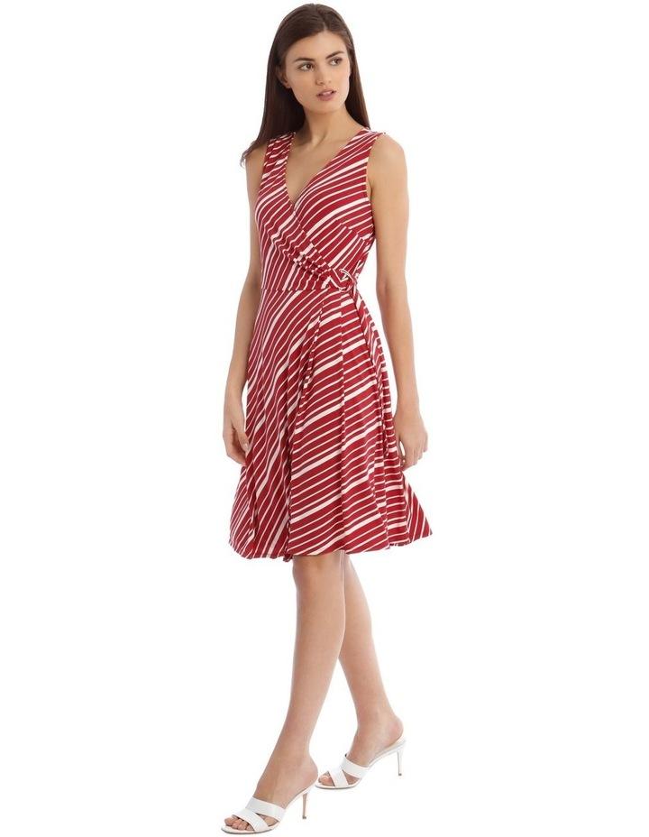 Stripe Wrap Midi Dress image 2