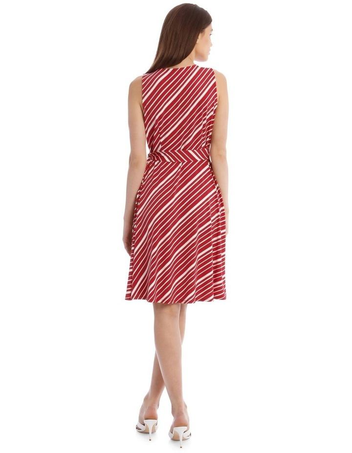 Stripe Wrap Midi Dress image 3