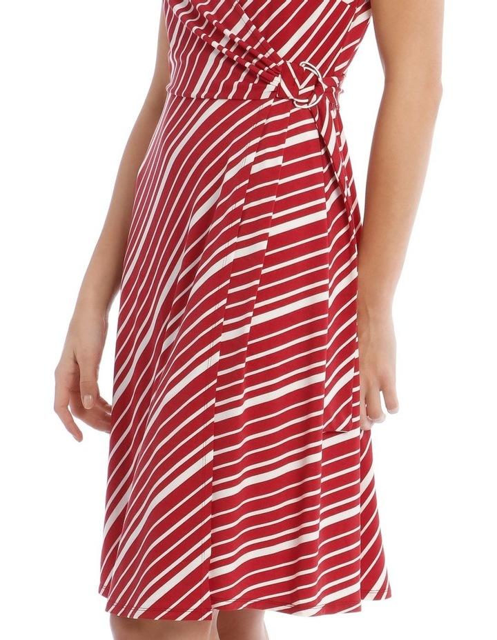 Stripe Wrap Midi Dress image 4