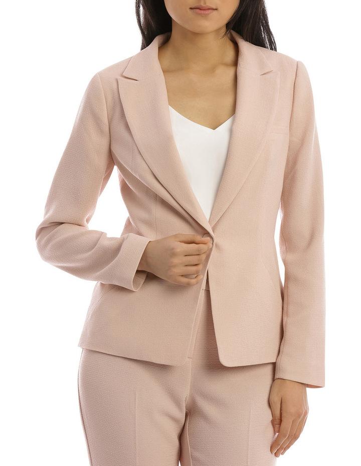 Textured Crepe Single Button Jacket image 1