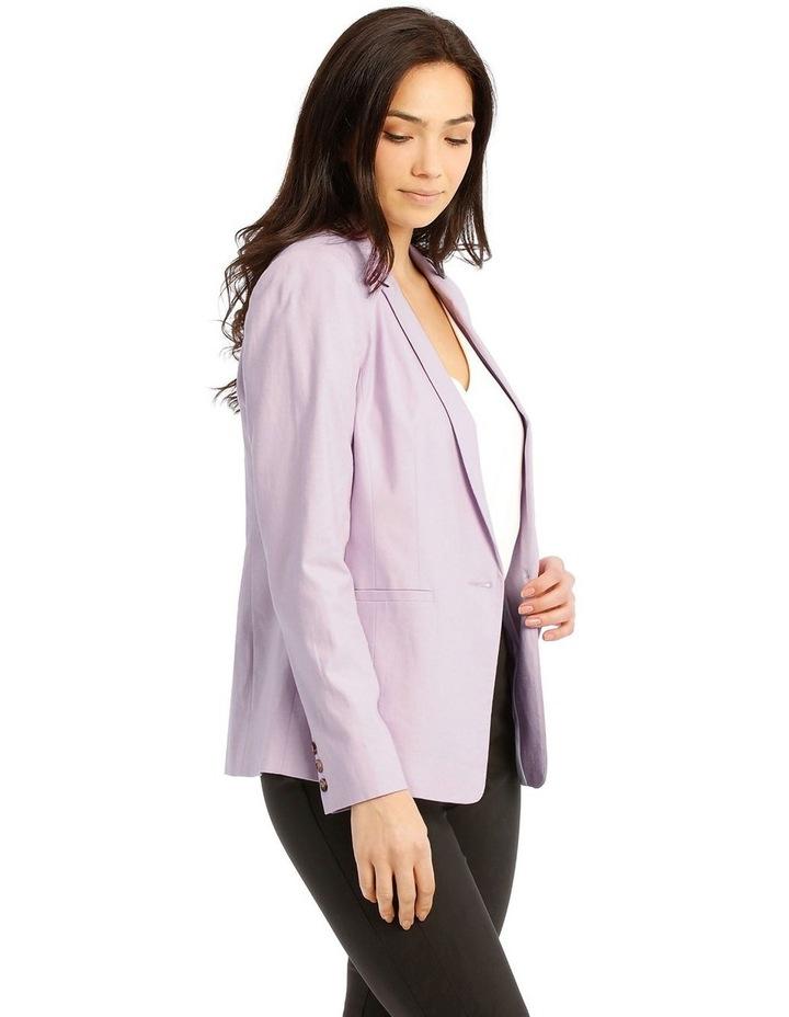 Linen Blend Single Button Blazer image 2