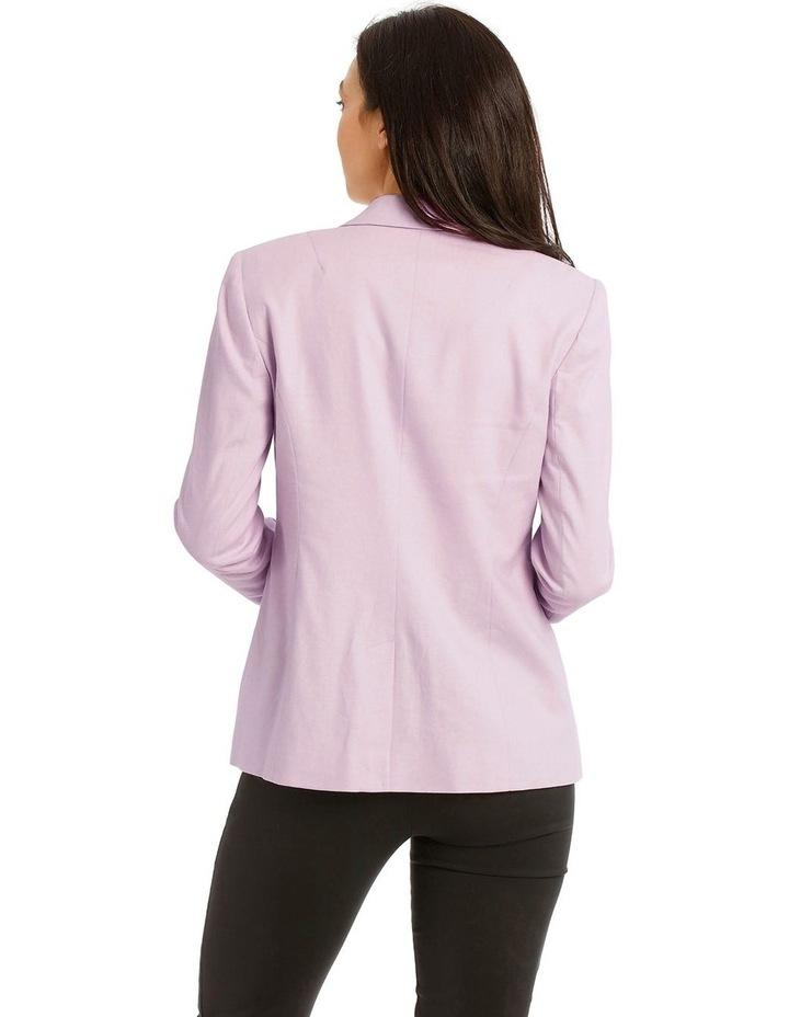 Linen Blend Single Button Blazer image 3