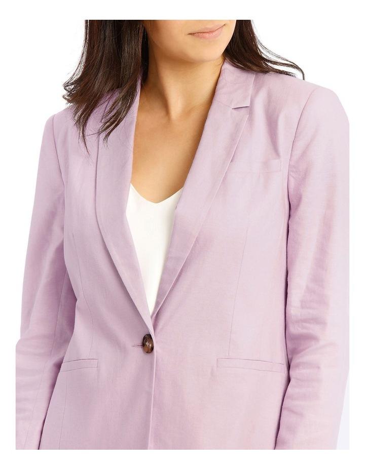Linen Blend Single Button Blazer image 4