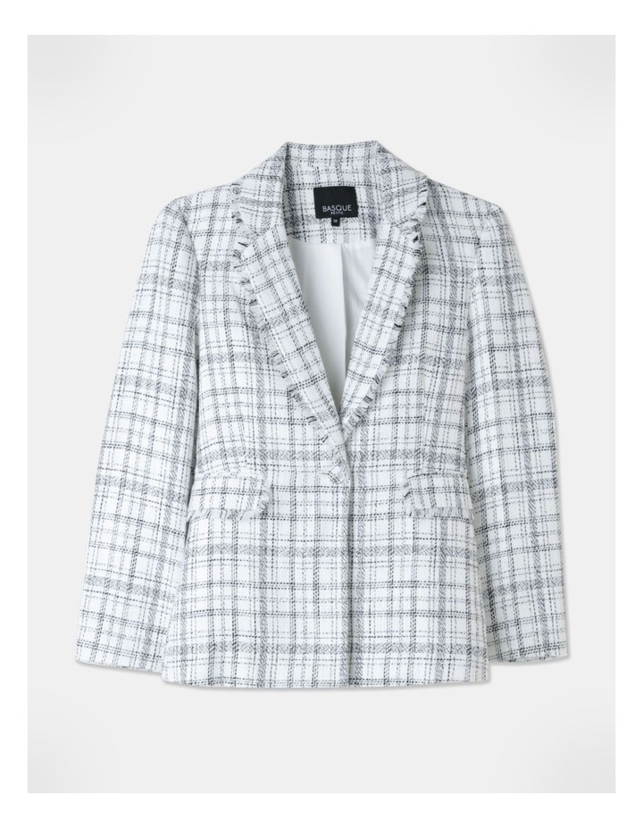 Boucle Suit Jacket Black/Ecru image 1