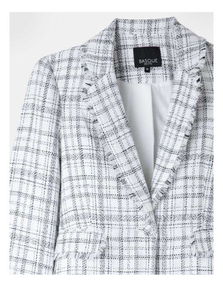 Boucle Suit Jacket Black/Ecru image 2