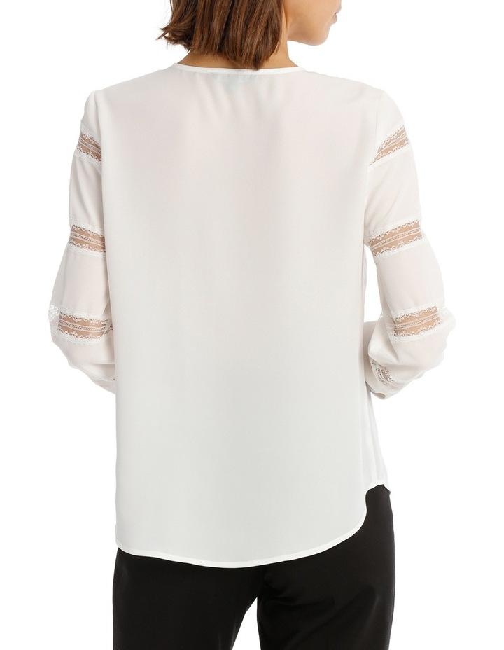 Lace Stripe Button Down Blouse image 3