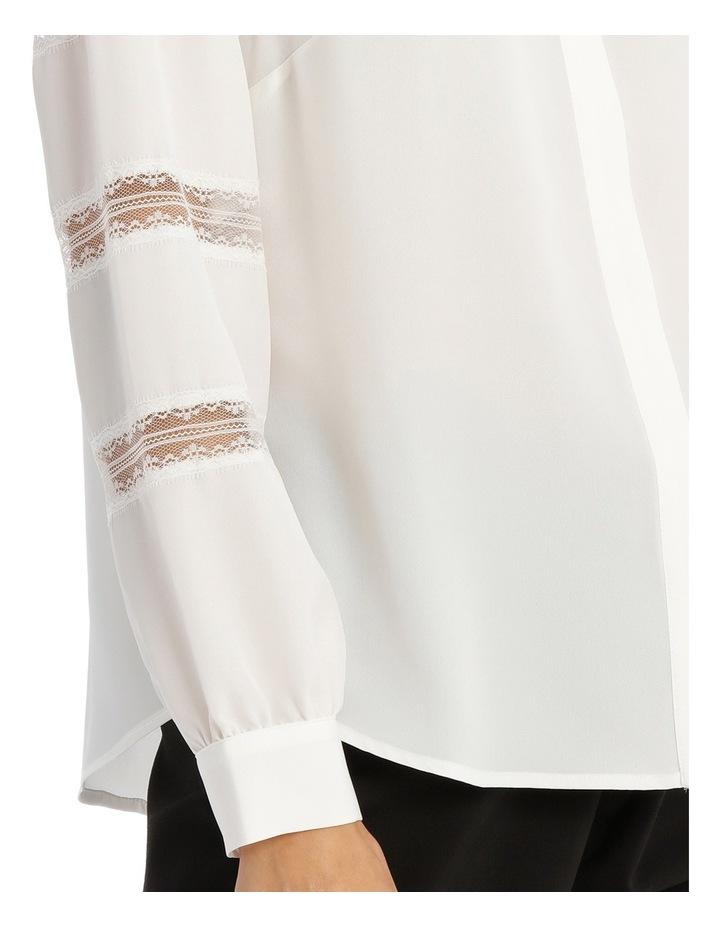 Lace Stripe Button Down Blouse image 4