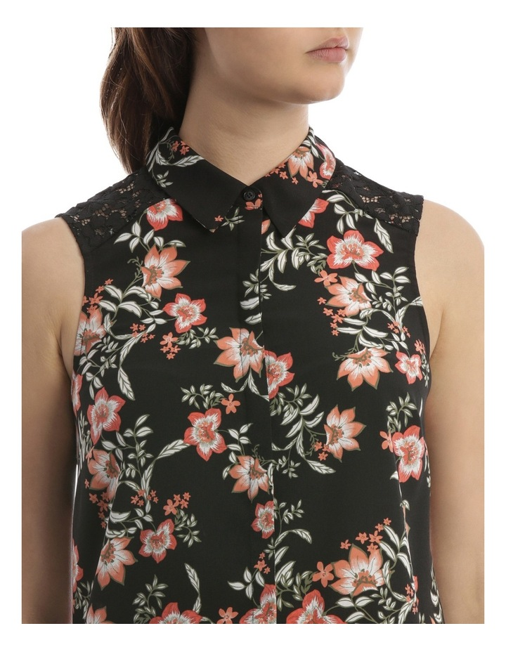 Passionfruit Bloom Lace Detail Sless Shirt image 4