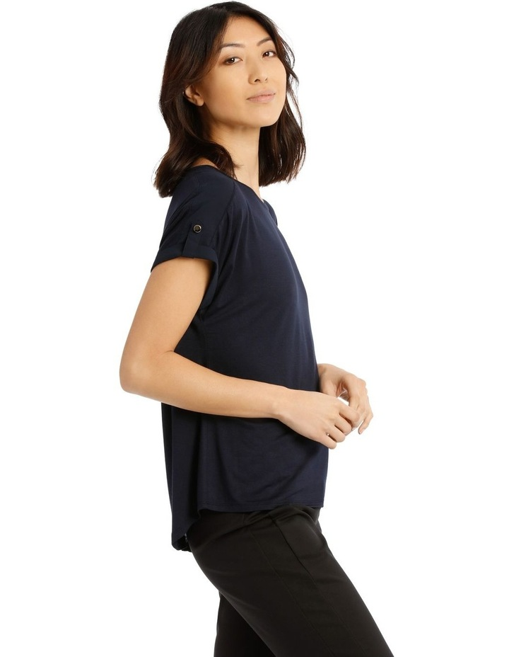 Jersey Button Sleeve Tee image 2