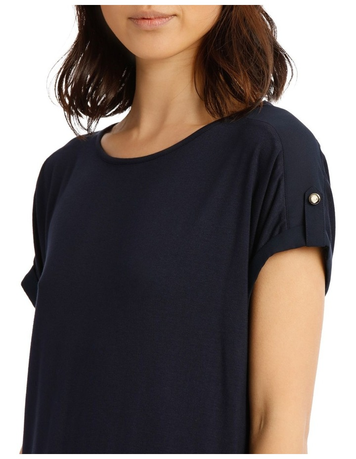 Jersey Button Sleeve Tee image 4