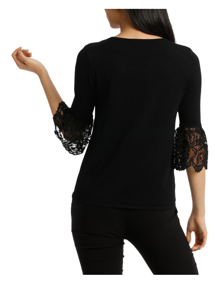 Lace Detail Short Sleeve Knit image 3
