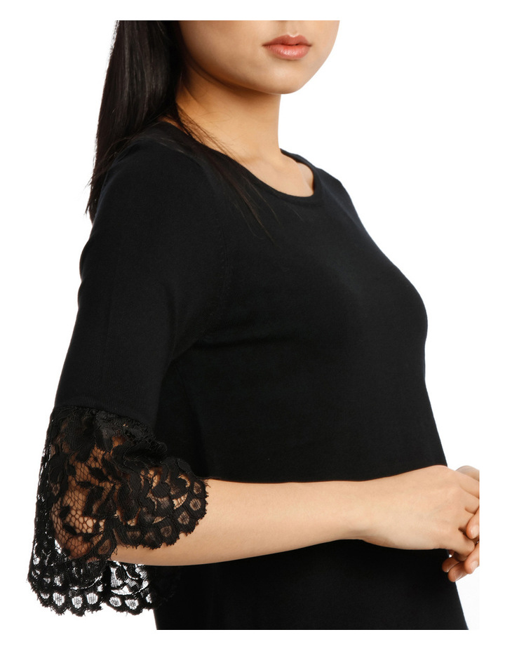 Lace Detail Short Sleeve Knit image 4