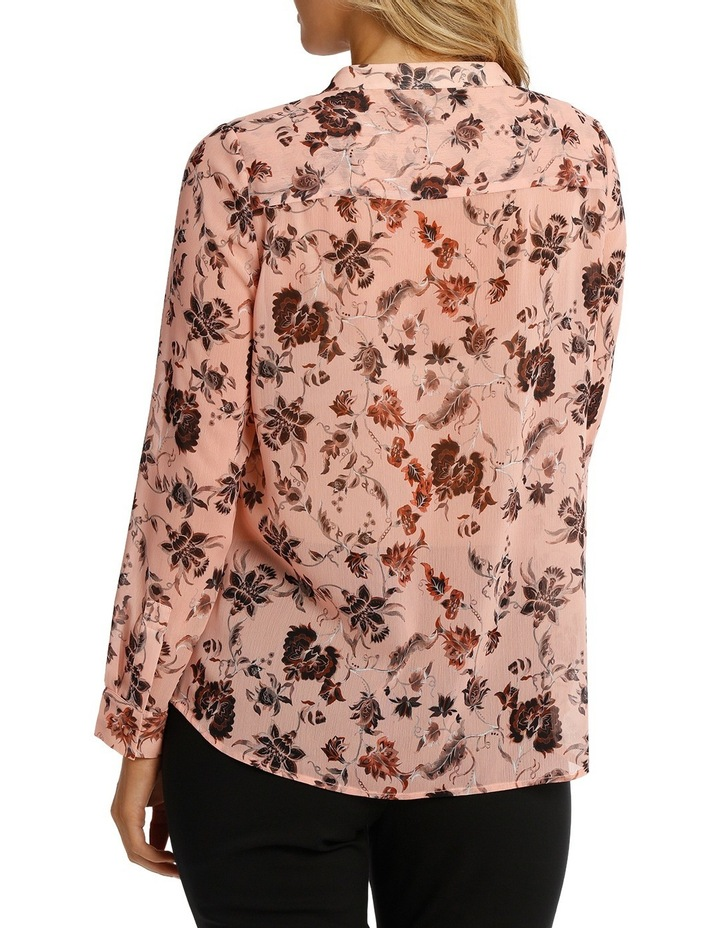 Vintage Floral Lace Up Long Sleeve Top image 3