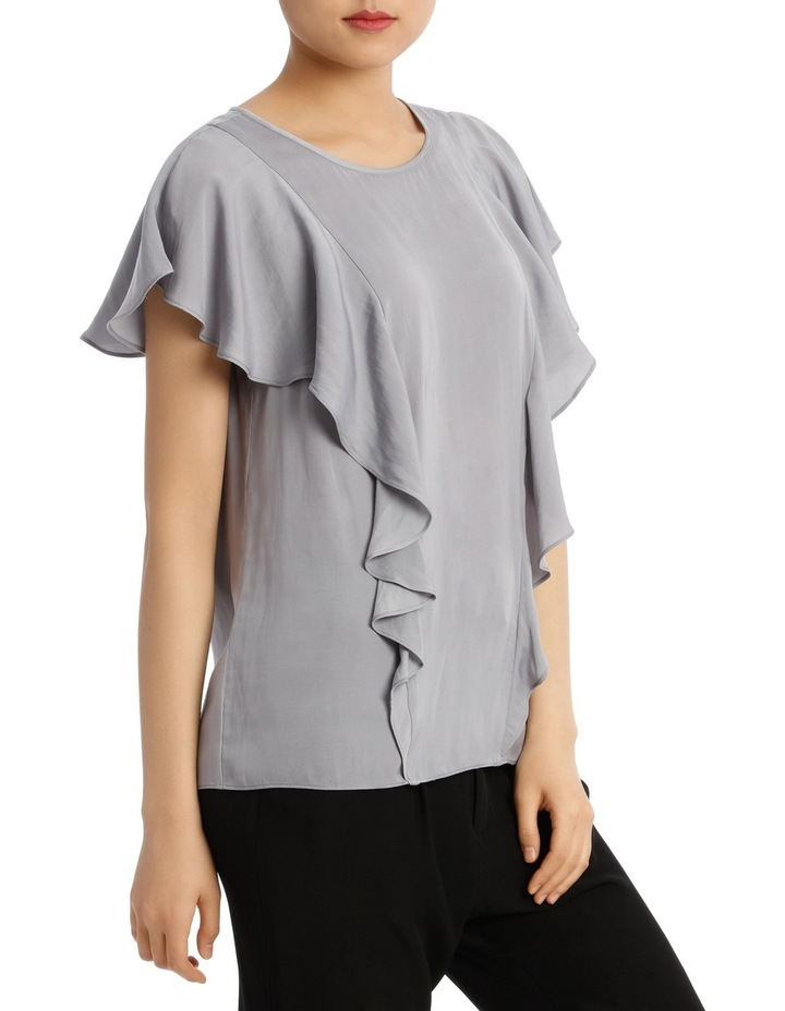 Ruffle Front Bruised Poly Top image 2