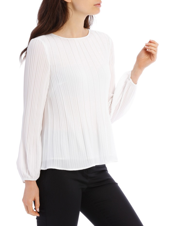 Pleated Long Sleeve Top image 2