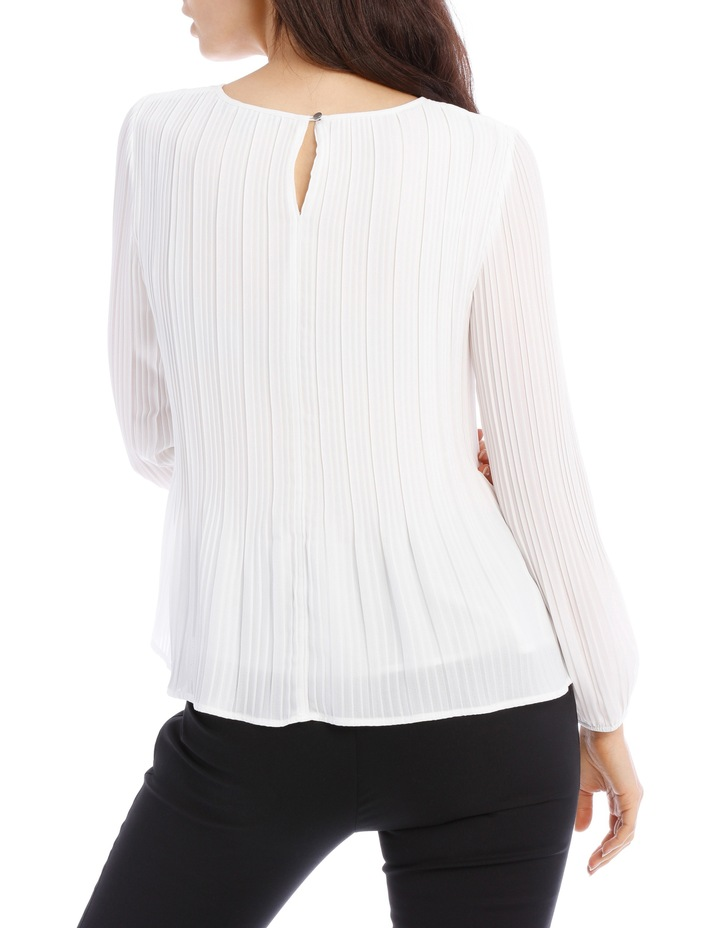 Pleated Long Sleeve Top image 3