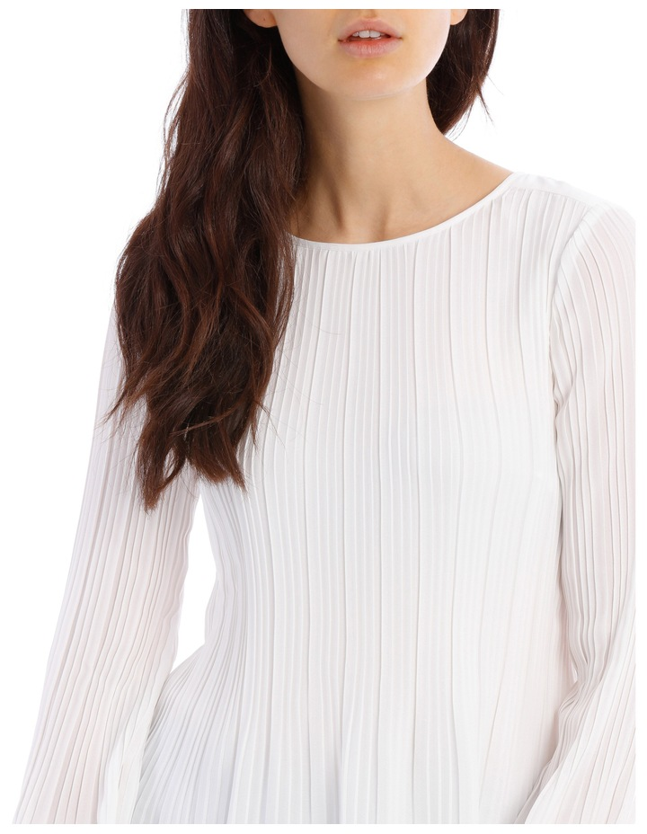 Pleated Long Sleeve Top image 4