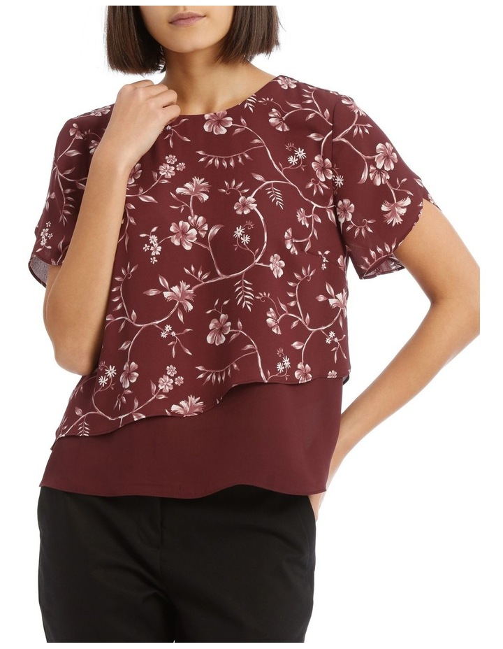 Layered Short Sleeve Top image 1