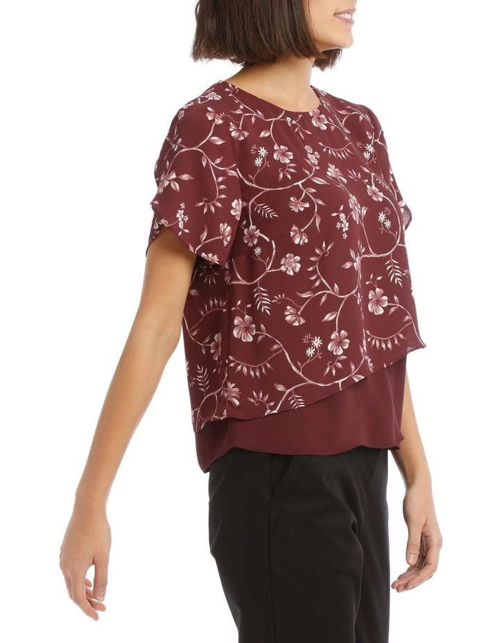 Layered Short Sleeve Top image 2