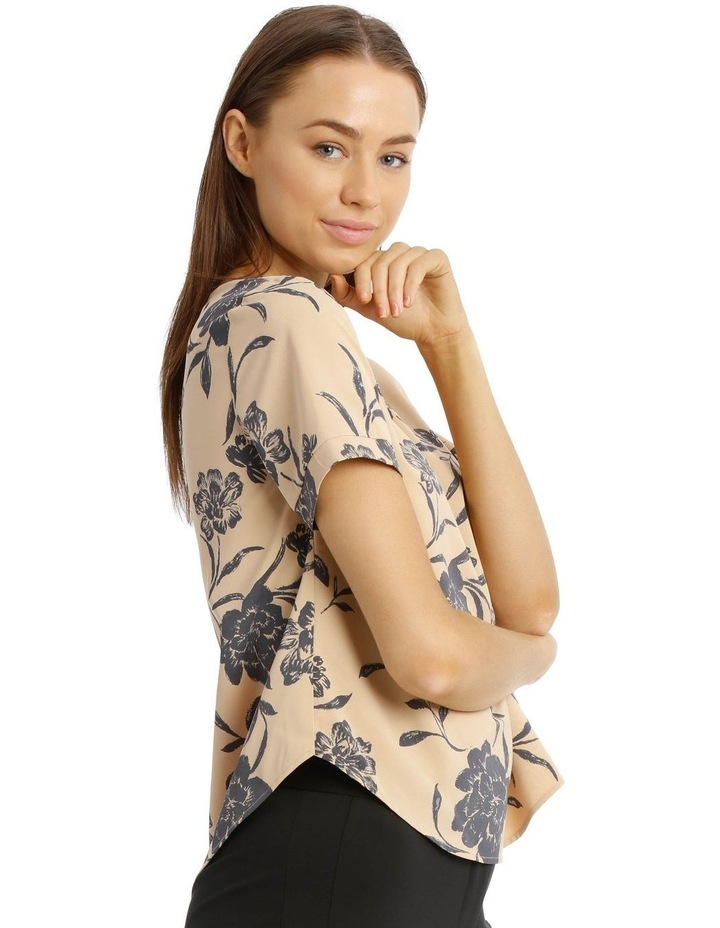 Elbow Sleeve Print Top image 2