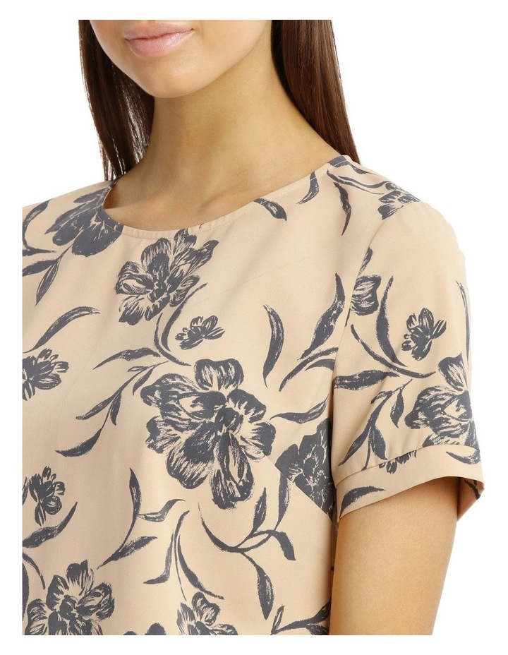 Elbow Sleeve Print Top image 4