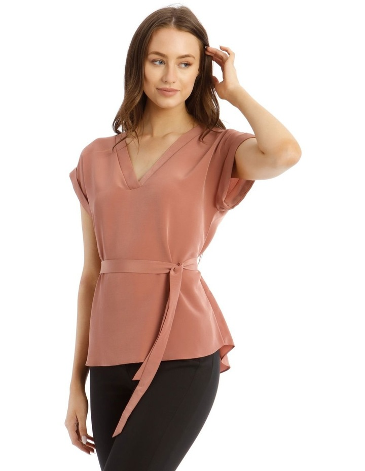 Belted V-Neck Shell Top image 2