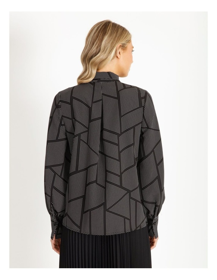 Tie Neck Puff Sleeve Blouse image 3