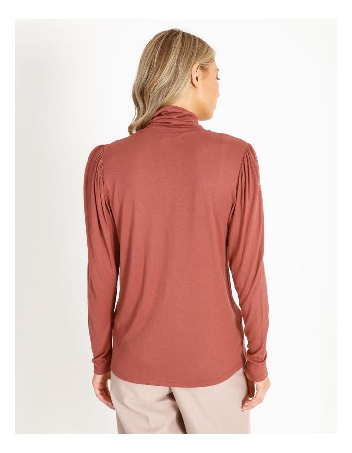 Draped Long Sleeve Jersey Top image 3