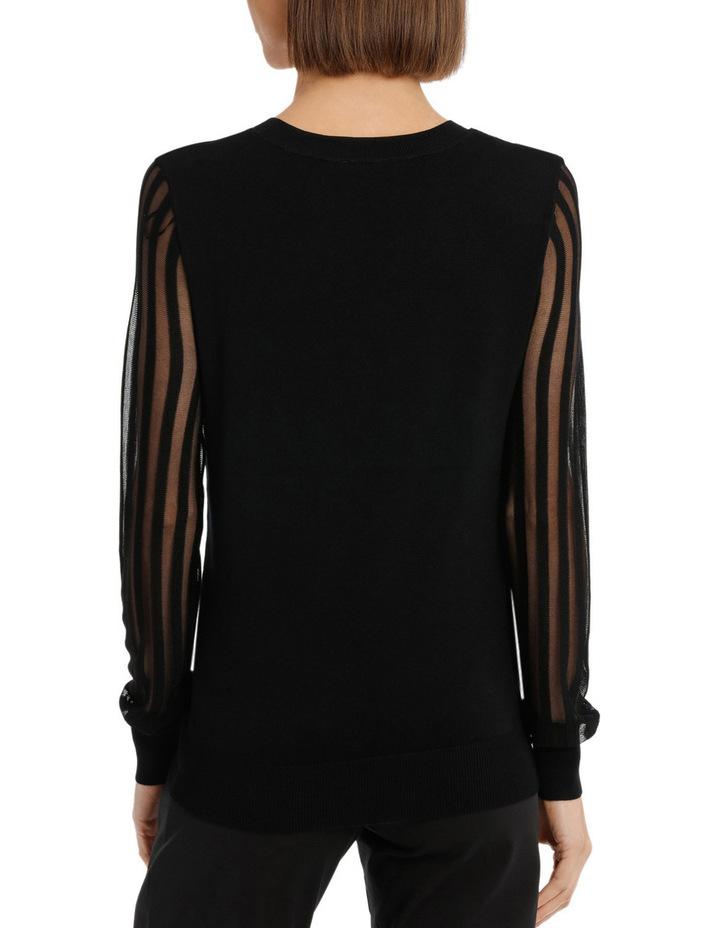 Sheer Stripe Long Sleeve Jumper image 3