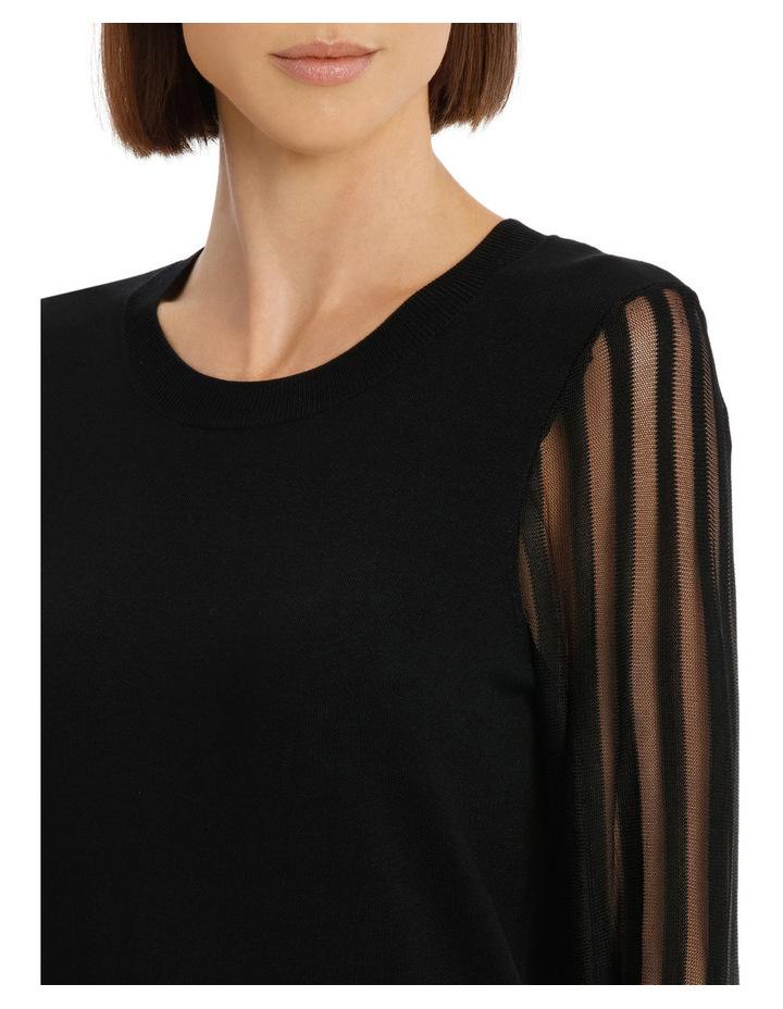 Sheer Stripe Long Sleeve Jumper image 4