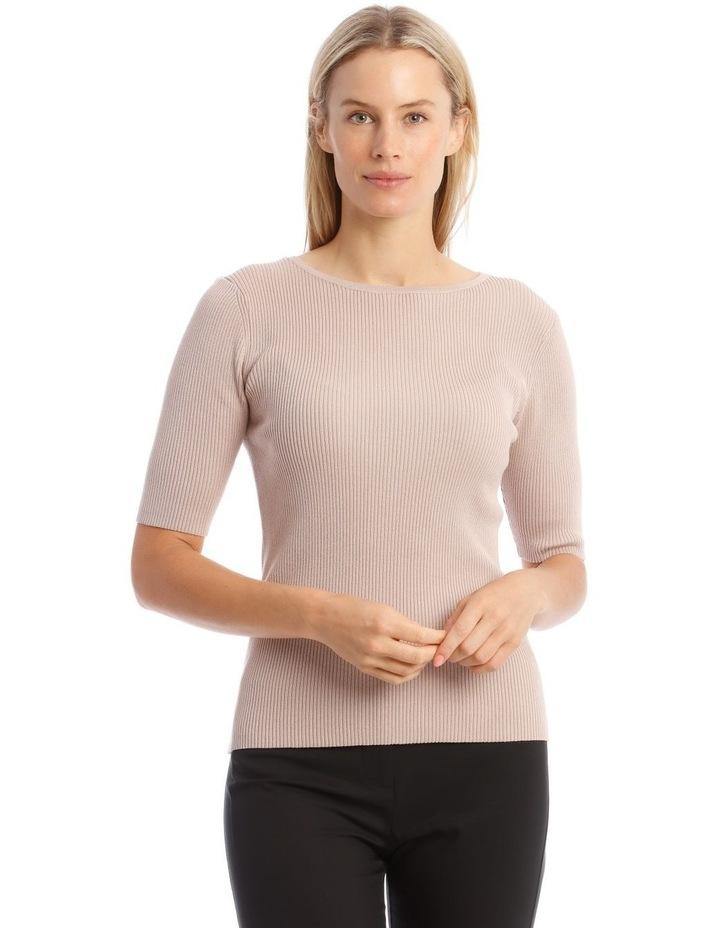 Ribbed Short Sleeve Jumper image 1