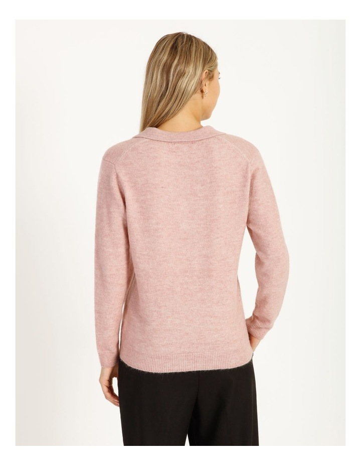 Placket Front Collared Knit image 5