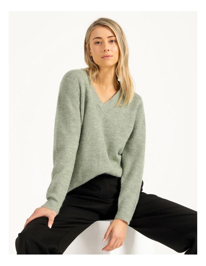 V-Neck Aline Knitted Jumper image 3