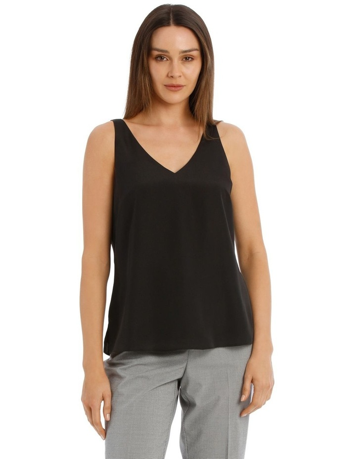 Double Layer Cami Black image 1