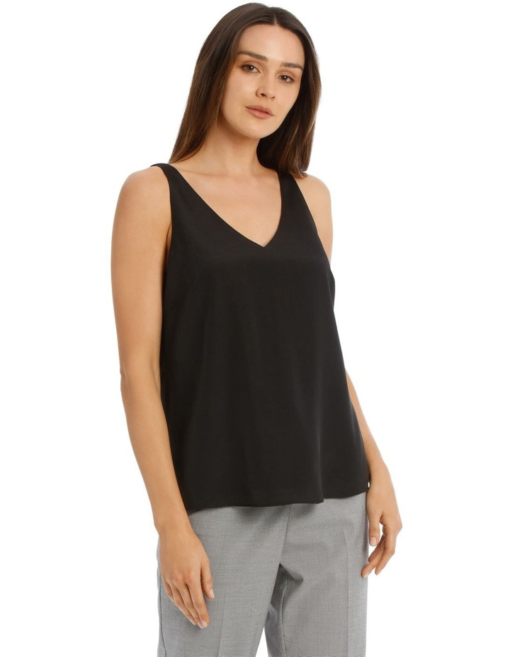 Double Layer Cami Black image 2