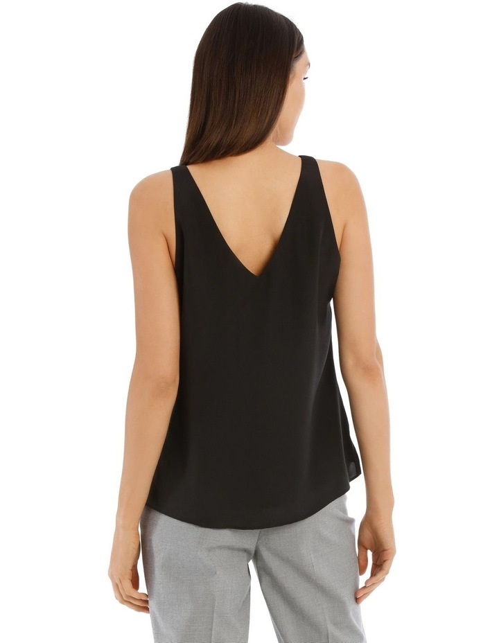 Double Layer Cami Black image 3