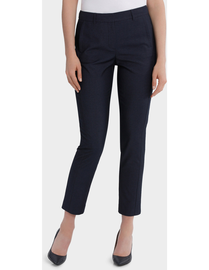 Indigo Slim Detail Suit Pant image 1