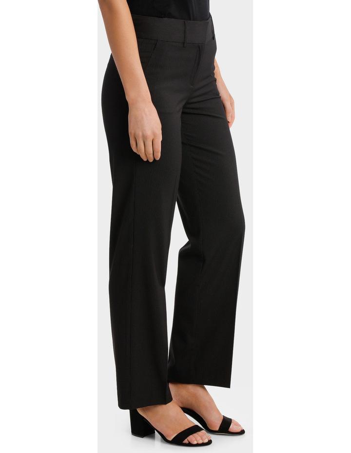 Black Fine Line Wide Leg Suit Pant image 2