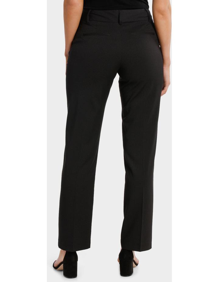 Black Fine Line Wide Leg Suit Pant image 3