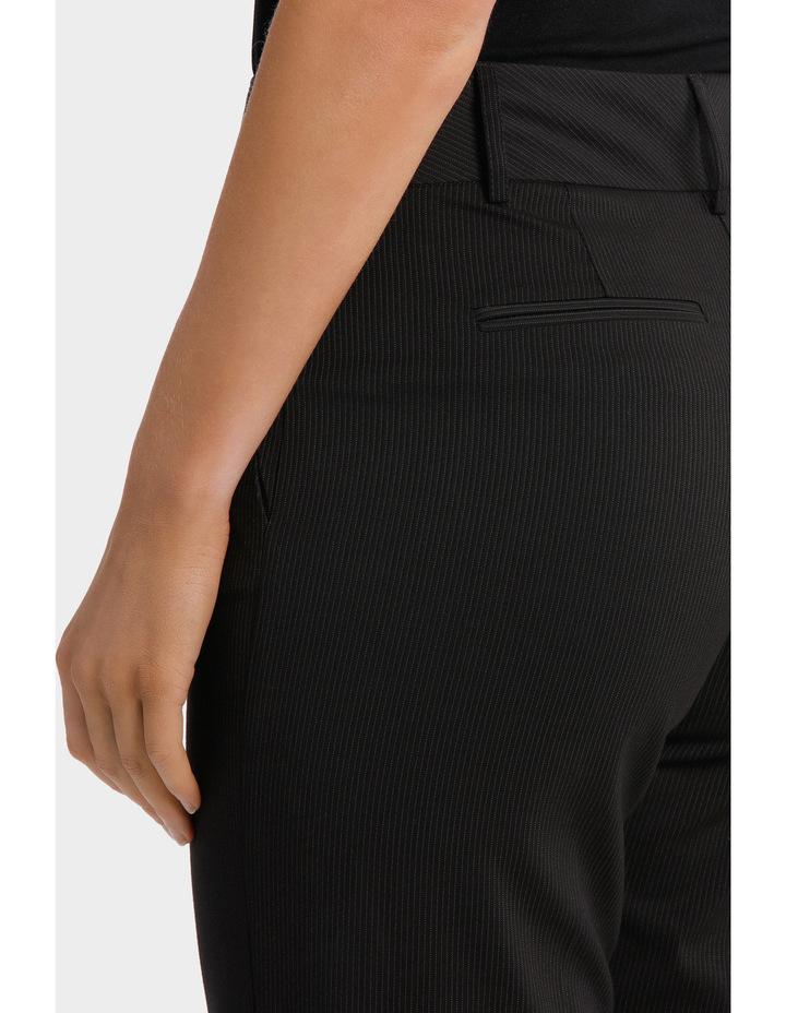 Black Fine Line Wide Leg Suit Pant image 4