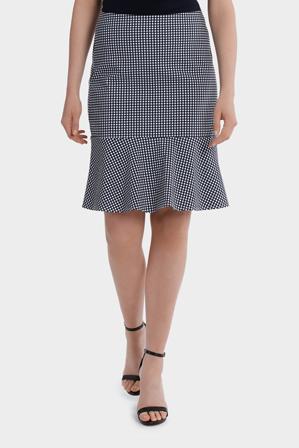 Basque Petites - Gingham Flip Hem Skirt