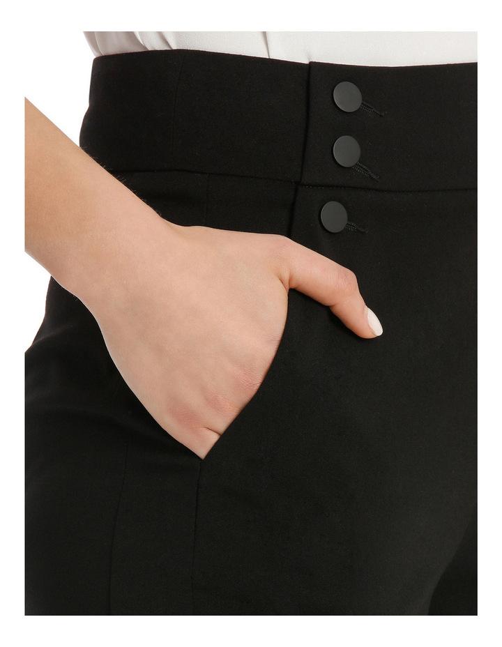 Highwaisted Button Detail Slim Crop Pant image 4