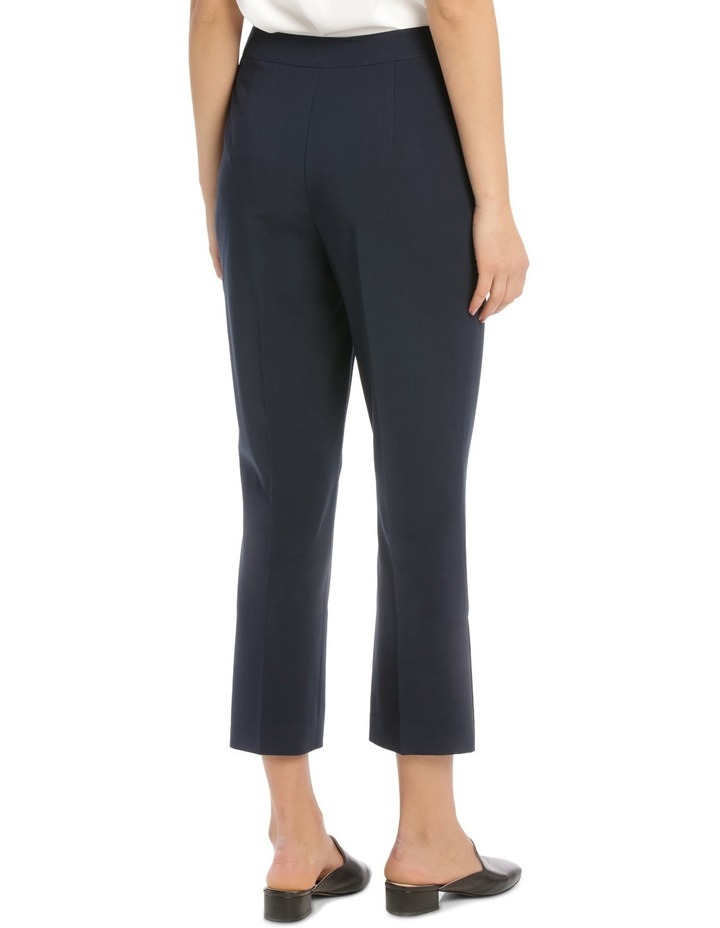 Button Detail High Waisted Crop Pant image 3